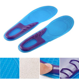Soft Shoe Insoles Australia - 1 Pair Orthotic Arch Support Massaging Silicone Anti-Slip Gel Soft Sport Shoe Insole Pad For Women 36-42 Size
