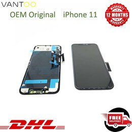 iphone black screen oem NZ - 12 Months Warranty Cell Phone Touch Panels For iPhone 11 LCD Screen Replacement Parts OEM Original Black