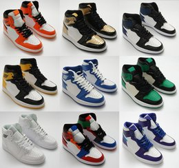 top best basketball shoes Australia - Best Quality 1s Mens Basketball Shoes Kids Jumpman 1 Top 3 Bred Chicago OG Game Blue Sneakers Shattered Women Men Sports Trainers