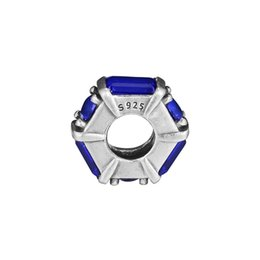 $enCountryForm.capitalKeyWord Australia - Spacer charms beads 925 sterling silver fits for pandora jewelry style bracelet Blue Ice Sculpture Spacer 797529NSBL H8