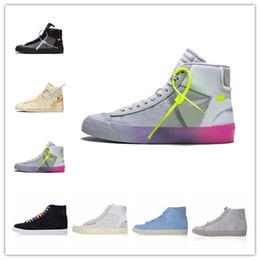super popular ceee4 6c87c Nike Blazer off white shoes AA3832 2018 Nouvelle Marque Blazer Mid Grim  Reaper Noir Hommes Chaussures De Basket-ball Tout Hallows Eve Designer  Chaussures De ...