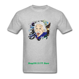 theory tops 2019 - Funny Comical Albert Einstein T shirt Men 2019 Summer Parody style High Quality Top tees Short sleeve The Theory T-shir