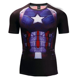 $enCountryForm.capitalKeyWord Australia - Captain America 3D Printed T shirts Men Compression Shirts 2019 Summer NEW Cosplay Crossfit Tops For Male Fitness Cloth