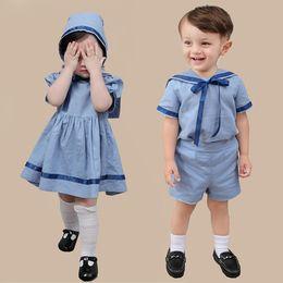 4fcfc9cf6c8c3 BaBy Boy Birthday dresses online shopping - Baby Boy Girl Summer Clothes  Set Children s Spanish