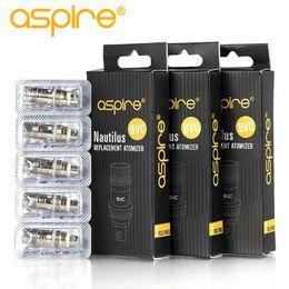 Toptan satış 100 % otantik Aspire Nautilus Bobin 0.7 ohm 1.6 ohm 1.8 ohm nautilus bvc bobinleri için aspire nautilus 2 tankı