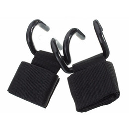 wrist strap gym Canada - Weight Lifting Training Gym Hooks Bar Grips Grippers Straps Gloves Wrist Support