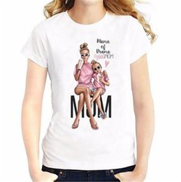 Wholesale t shirt mama online – design Sexe Mara Super Mom T Shirt Women Mother s Love Print White T shirt Harajuku Mama TShirt Vogue Tops Tee Shirt Femme Women s Clothing Summer