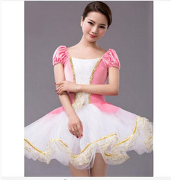 Wholesale classical dance dresses for sale - Group buy New Classical Ballet Tutu Professional Ballet Tutu Dress Costume Adult Kids Girls Dance White Pink Pancake
