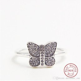 Parure jewelry online shopping - Nfn97 Parure Bijoux Femme Rings For Women Butterfly Romantic Wedding Jewelry Vintage silver Color Bridal Engagement Ring