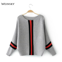 Ladies fuLL cap online shopping - Weinsky Casual Style Women Knitted Sweater And Pullovers Full Sleeve Ladies Sweaters Female Winter And Autumn