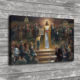 $enCountryForm.capitalKeyWord Australia - Jesus Christ Kennedy Lincoln,1 Pieces Home Decor HD Printed Modern Art Painting on Canvas (Unframed Framed)