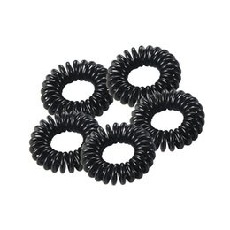5pcs new telephone wire line elastic hair bands for women autumn rubber  band hair accessories for women ties rope 376