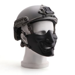 $enCountryForm.capitalKeyWord Australia - New cycling Half Face Mask Scary Smiling Ghost Shape Adjustable (Tactical) Headwear Protection