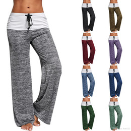 $enCountryForm.capitalKeyWord Australia - Wholesale fashion women yoga pants wide leg pants hot sell on European and American 9 colours for choosed