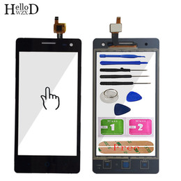 "zte phones NZ - 4.5"" Phone Touchscreen Front Glass For ZTE Blade GF3 Touch Screen Digitizer Touch Panel Outer Lens Sensor Flex Cable Replace"