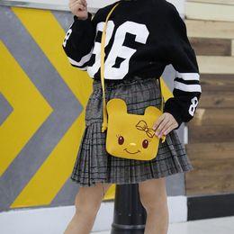 Super Lovely Cute Cartoon Australia - Super Mini Cute Cartoon Children Girls Crossbody Bag Kids Purse Coin Messenger Bags Lovely Mini Handbags For Children