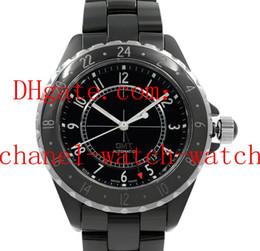$enCountryForm.capitalKeyWord Australia - High Quality Mens Date Wrist Watch H2012 Black Ceramic And Dial GMT 42mm Mechanical Automatic Men's Watch