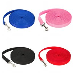 Extra small lEd collars online shopping - 2cm Wideth Dog Tracking Rope Pure Color Dogs Leash Poular Pet Training Lead Ropes For Outdoor Sports Activity Metres RYE1