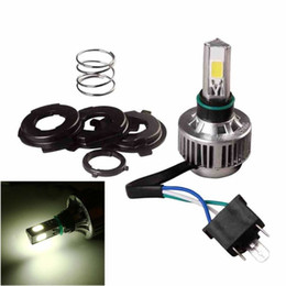 36v Headlight Australia - Motorcycle H4 Headlight 32W White 6500K 3Sided LED Bulb Hi Low Lamp Fan Cooling 360° Aviation Aluminum Alloy Bright Waterproof 8V~36V