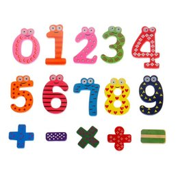 Magnetic Drawing Toy Australia - Hot Selling Set 15 Number Funky Wooden Fridge Colorful Magnets Numbers Magnetic Education Learn Cute Kid Baby Educational Toys Free Shipping