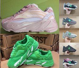 $enCountryForm.capitalKeyWord Australia - 2019 Kanye West 700 Wave Runner Running Shoes For Mens Womens 700s V2 Static Sports Sneakers MAGNET Solid Pink 700 V2 Shoes