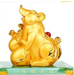 dragon home Canada - kitchen dies Rat ox tiger rabbit dragon snake furnishing gold large open housewarming fortune golden Animal home decoration