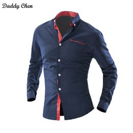 polka dot dress shirts for men Australia - Dress shirt men slim fit style male for boys Wave Point Polka Dot Casual shirt mens long sleeve Grid Classic designer Brand 4xl