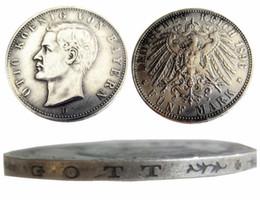 Copy Coins Wholesalers Australia - Germany German Bavaria coin 5 mark silver 1896D Otto Copy Coins Wholesale