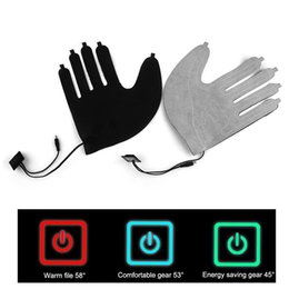 power sheets UK - 1pcs Five-finger Gloves Electric Heating Pads Lithium Battery Power Supply Three-speed Thermostat Switch Heating Sheet