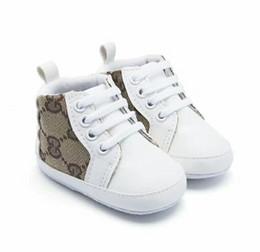 Vente en gros LIVRAISON GRATUITE Bébé Garçons Filles Semelle Souple Berceau Anti-slip Chaussures Enfant Sneakers 0-18MBébé Garçons Filles Chaussures Toile Chaussures Première