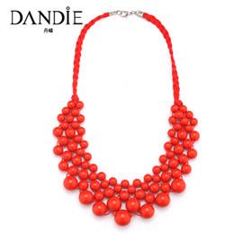 $enCountryForm.capitalKeyWord Australia - Dandie Fashionable Necklace With Acrylic Bead, Elegant Weave Braid Bead Necklace Jewelry For Women
