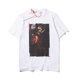 $enCountryForm.capitalKeyWord Australia - 19ss hot high quality big name summer men and women portrait print logo short sleeve couple models T-shirt fashion casual short sleeve