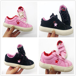 Kids Canvas Shoes Australia - New style wholesale classic canvas shoes kids fashion One Star shoes boys and girls sports canvas and sports children shoes conver gift