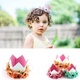 Orange Hair Accessories Australia - Kids Designer Headband floral Crown Girls Headbands Birthday Party sequin Baby Headbands kids Hair Sticks Infant HairBands Accessories A2549