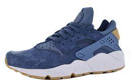 Discount flat leather boot womens - Mens Huarache Run Premium Jogging Shoes for Men's Huaraches Running Male Hurache Trainers Womens Sneakers Female Hu