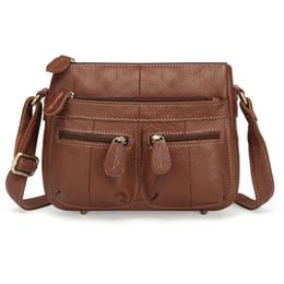$enCountryForm.capitalKeyWord Canada - 100% Top Cowhide Genuine Leather Women Messenger Bags Female Small Shoulder Bag Vintage Crossbody For Bolsa Feminina 2019 Mm2317