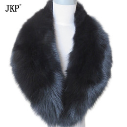 $enCountryForm.capitalKeyWord NZ - Real Fox Fur Collar Women 100% Natural Fox Fur Scarf Winter Warm Fur Collar Scarves Black D19011003