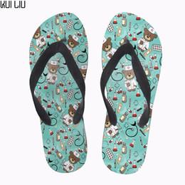 $enCountryForm.capitalKeyWord Australia - Customized Cute Women Summer Flip Flops Cartoon Women's House Slippers Slip-on Rubber Beach Flip Flops for Teenage Girls Female