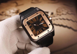 Wholesale 2019 hotLuxury gentleman watch square dial automatic mechanical movement arched anti wear glass precision steel case