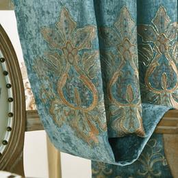 $enCountryForm.capitalKeyWord Australia - European-style embroidery chenille shade cloth window bedroom living room balcony finished custom wedding room curtain embroidery yarn