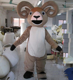 Goat costumes online shopping - 2018 High quality hot big horn goat sheep mascot costume for adult to wear for sale