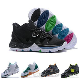d8bef08de06 New 2019 High Quality Kyrie Iv 5 Basketball Shoes Mens Iv 5 Gold  championship Mvp Finals Training Sneakers Sports Running Shoes Size 7-12