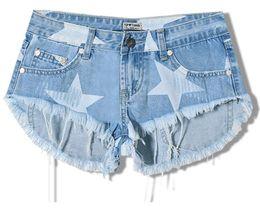 5ca6e0e2b0 Denim Shorts Jeans Women New Summer Fashion Ladies Star Print Tassel Sexy  Shorts for Women S190423