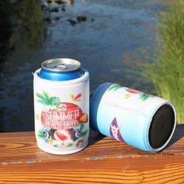 $enCountryForm.capitalKeyWord NZ - 200pcs Neoprene Beer Holder Custom Stubby Holder Can Cooler Wedding Small Cooler Drink Sleeve Promotional Bags Waterproof