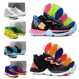 81e2e8395f5 2019 New High Quality Kyrie IV 5 Basketball Shoes Mens IV 5 Gold  Championship MVP Finals training Sneakers Sports Running Shoes Size 40-46