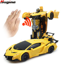 $enCountryForm.capitalKeyWord NZ - RC Car Robot Toys One-Click Deformation Gesture Sensing Remote Control Car 1:12 Colorful Lights Electric Kids Hobby Toys Gifts