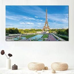 paris canvas prints Australia - canvas prints painting for living room decoration paris france eiffel tower sky blue