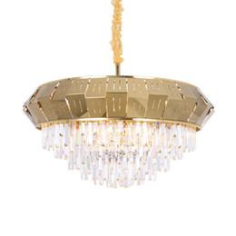 EnginEEring pEndant online shopping - Postmodern living room crystal chandelier villa hotel engineering lamps oval bedroom dining room lamp chandelier suspension