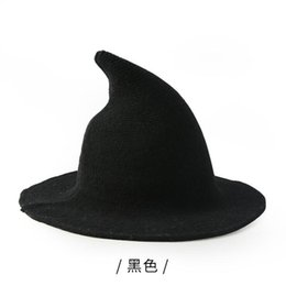 4a58f192e5b Women s Fashion Witch Pointed Basin Bucket Hat Accessories Along The Sheep  Wool Cap Knitting Fisherman Hat