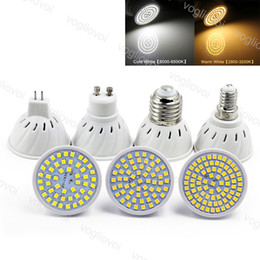 Wholesale LED Bulb ABS SMD2835 48 60 80leds E27 E14 MR16 GU10 110V 220V 3500k 6500k Lamp Spotlight EUB